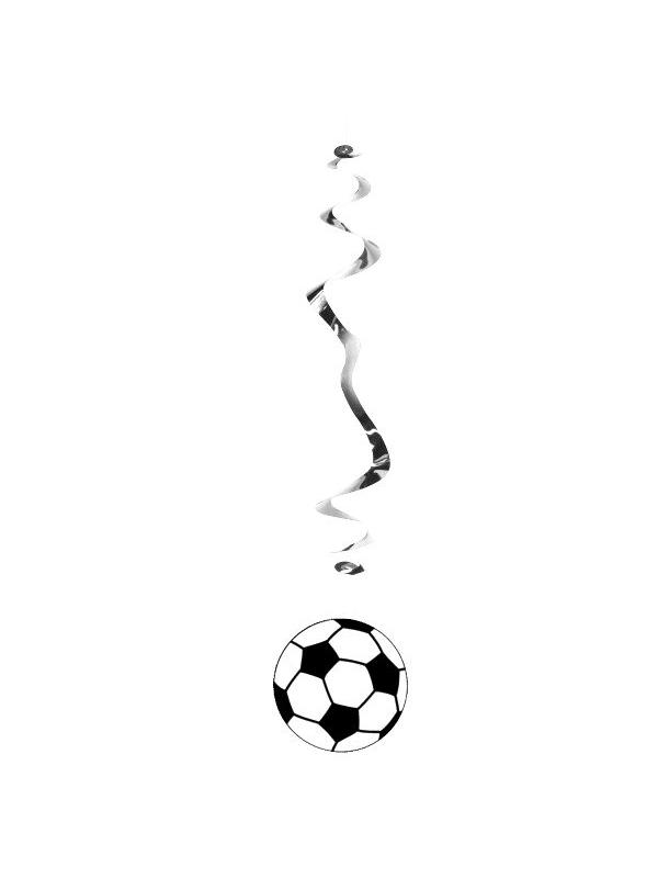 Football Hanging Swirl Decoration