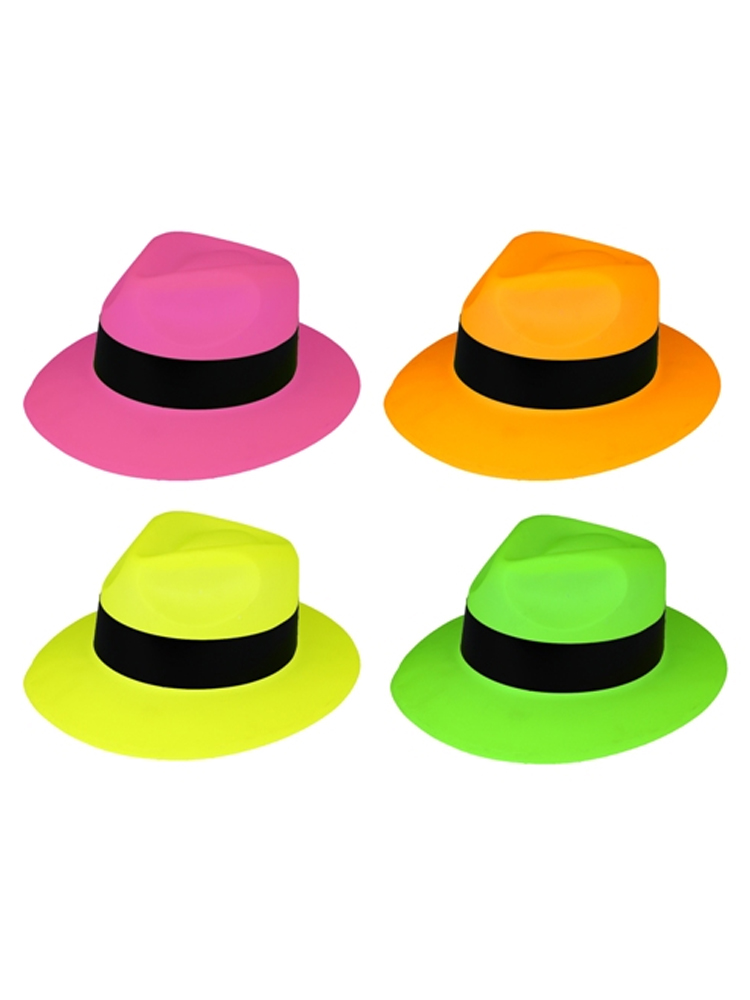 Neon Gangster Hat Assorted Colours