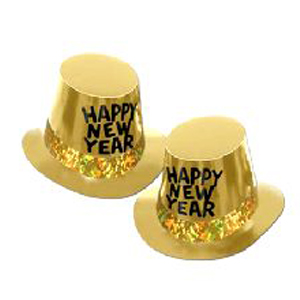 Gold Rush New Year Top Hat - 10