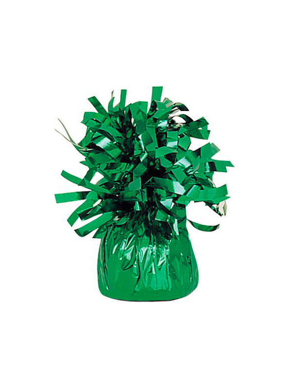 Balloon Weight Foil Wrapped Green