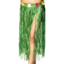 Hawaiian Skirt, Green with Flowers