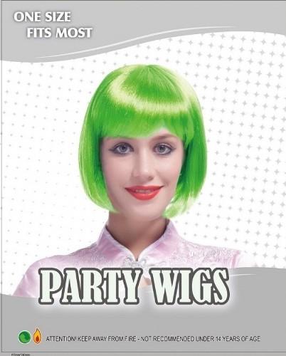 Bob Wig - Neon Green