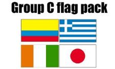 GROUP C Football World Cup 2014 Flag Pack (5ft x 3ft)