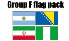 GROUP F Football World Cup 2014 Flag Pack (5ft x 3ft)