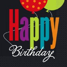 Happy Birthday Cheer Napkins