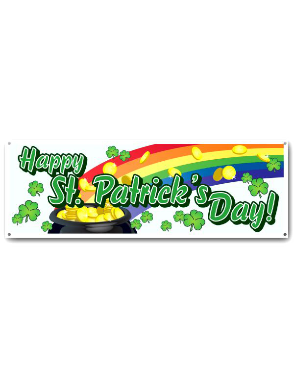 Happy St Patrick's Day Large Banner