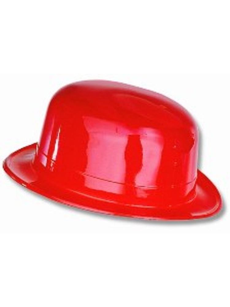 Bowler Plastic Hat Red