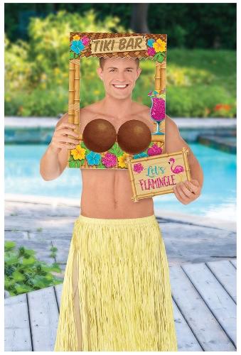 Hawaiian Coconut Tiki Bar Photo Frame Prop