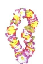 Hawaiian Lei Garland Luxury Rainbow Silky Flowers
