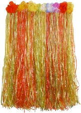 Hula skirt with Flowers - 60cms length