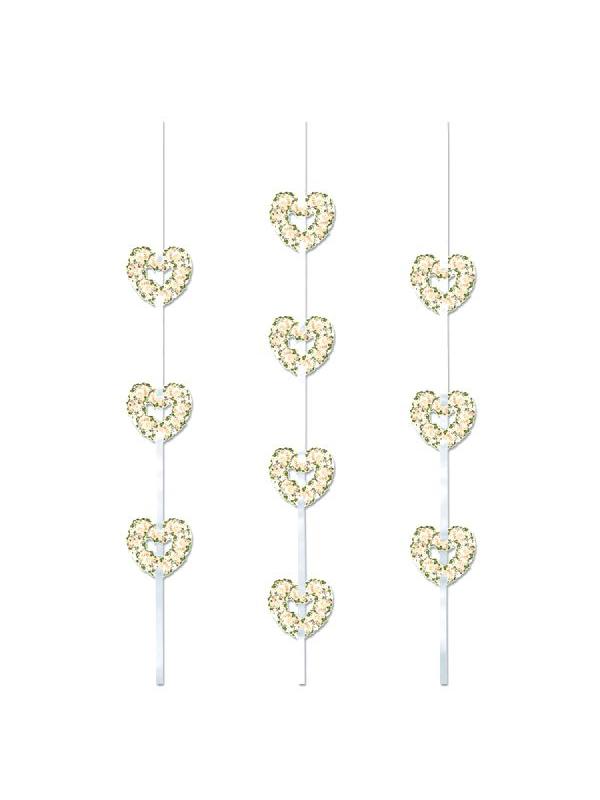 Heart Ribbon String Decoration
