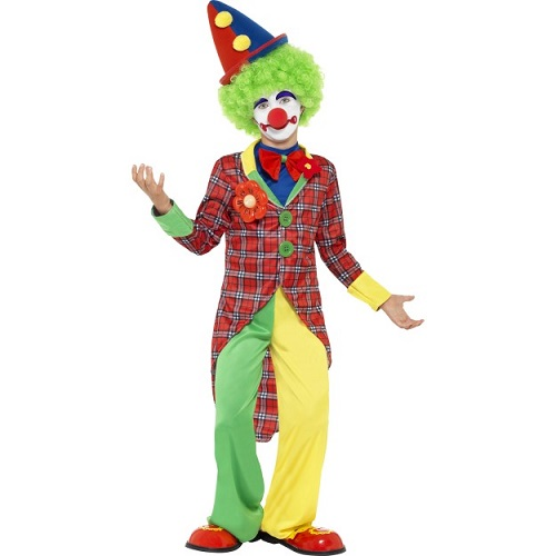 Clown Costume, Red & Green
