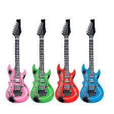 Inflatable Guitar - Assorted Colours