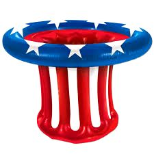 USA Patriotic Hat Drinks Cooler