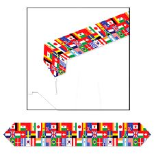 International Flag Table Runner