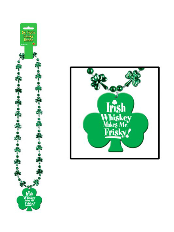 Beads with Printed Whisky Makes Me Frisky Medallion