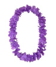 Hawaiian Island Lei Silky Flower Garland - Purple