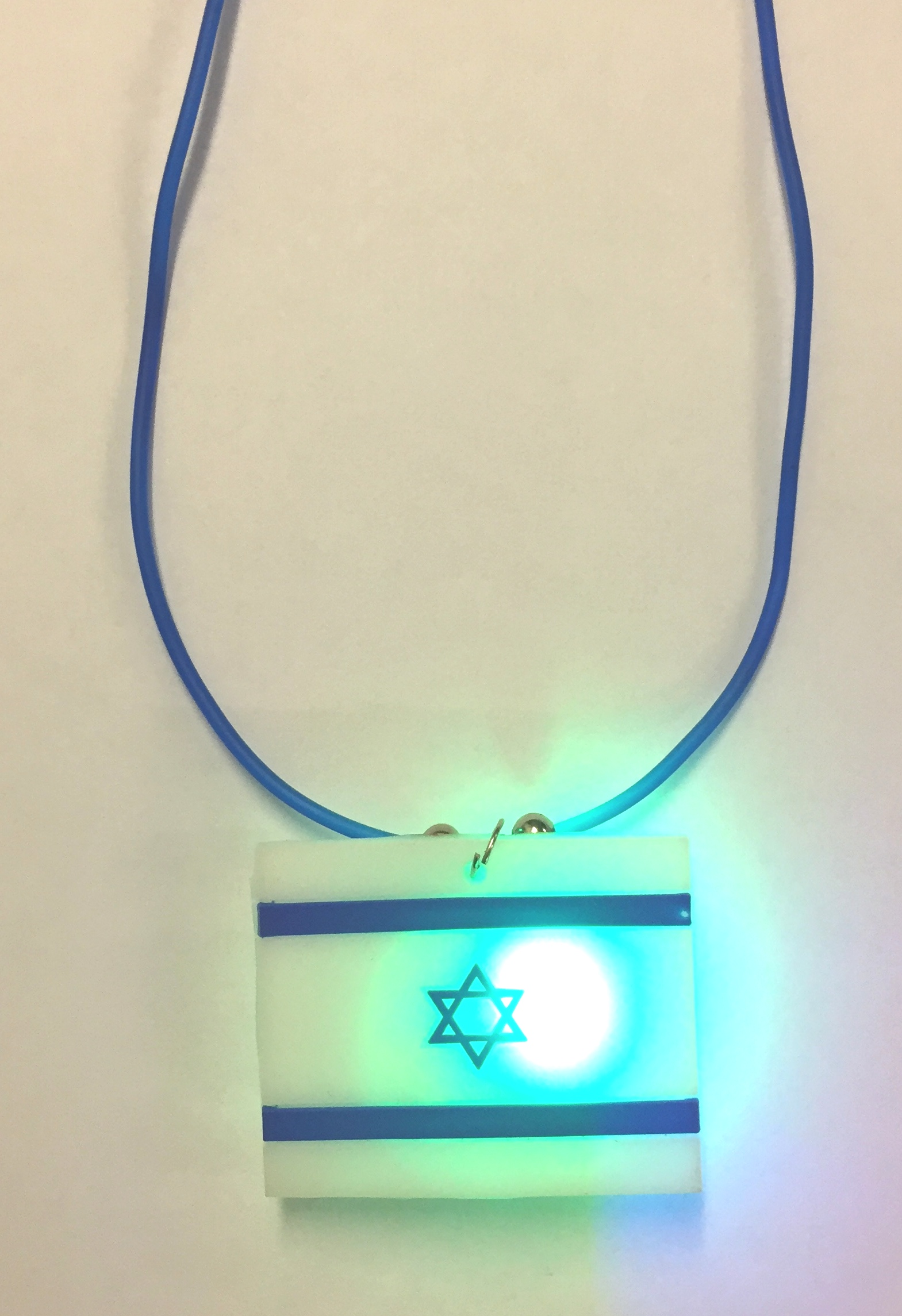 Israel Flag Flashing Necklace