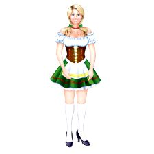 Jointed Fraulein Cutout