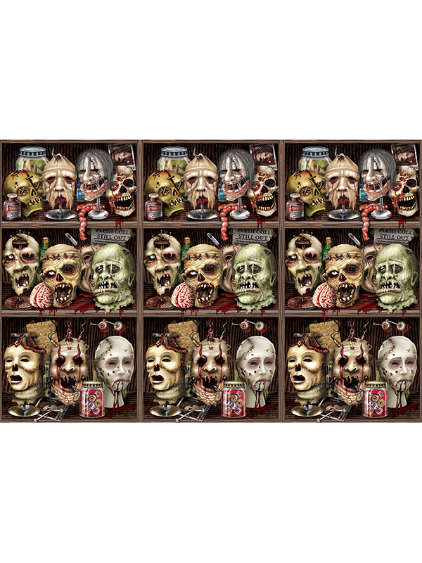 Scary Heads Backdrop 4' x 30'