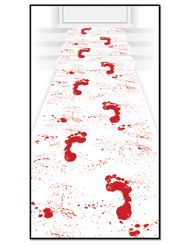 "Bloody Footprints Runner 24"" x 10'"