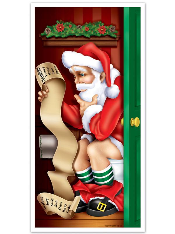 """Santa Restroom Door Cover 30"""" x 5'"""