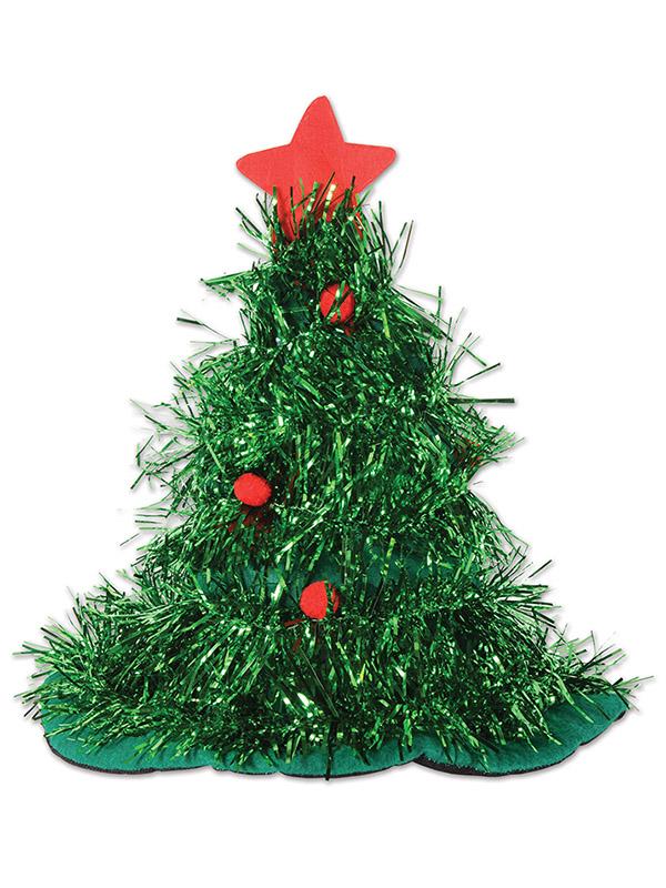 Christmas Tree Tinsel.Tinsel Christmas Tree Hat
