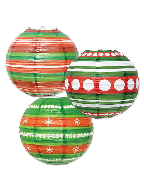 "Ornament Christmas Paper Lanterns 9½"""
