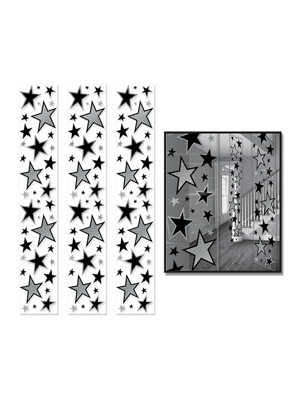 Star Party Panels - Silver and Black