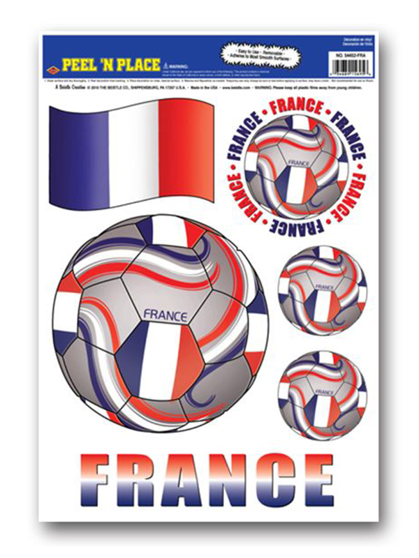 France Peel 'n' Place Removable Stickers