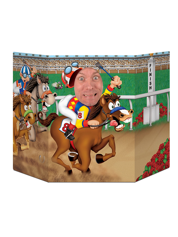 "Horse Racing Photo Prop 3' 1"" x 25"""