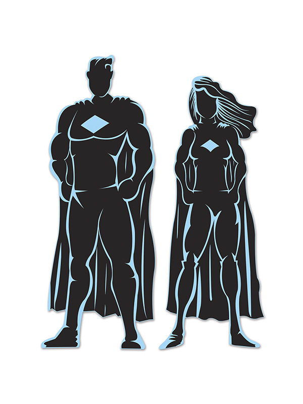 Super Hero Silhouettes