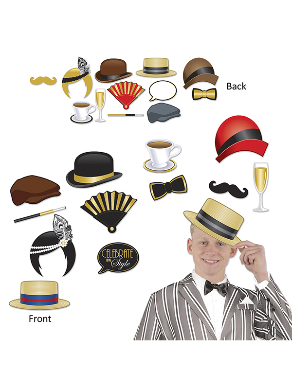 Great 1920's Photo Fun Signs Photo Booth Kit