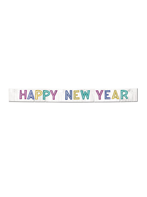 Metallic Happy New Year Banner - Mixed Colours