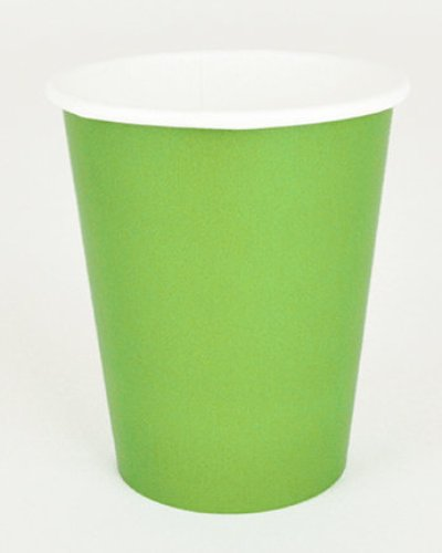 Lime Green Paper Cups 9""