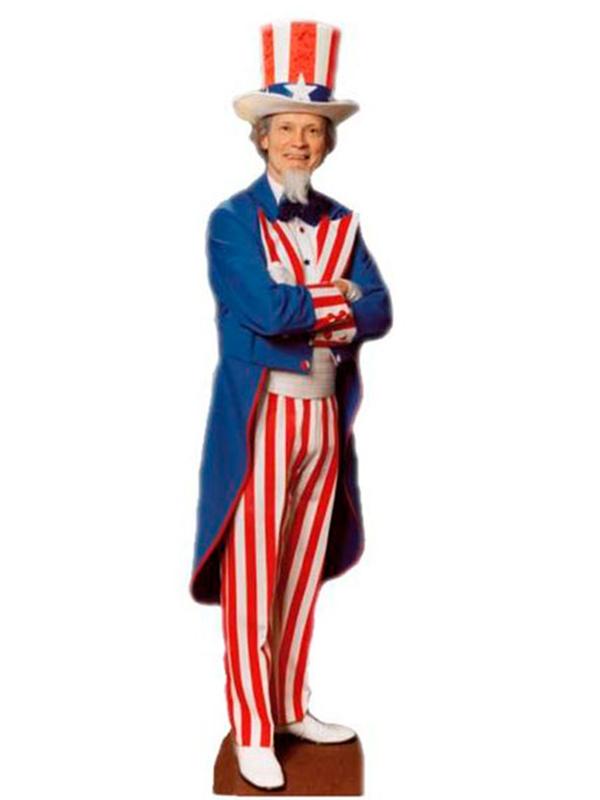 USA American 'Uncle Sam' Cardboard Cutout