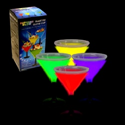 Glow In The Dark Martini Glasses