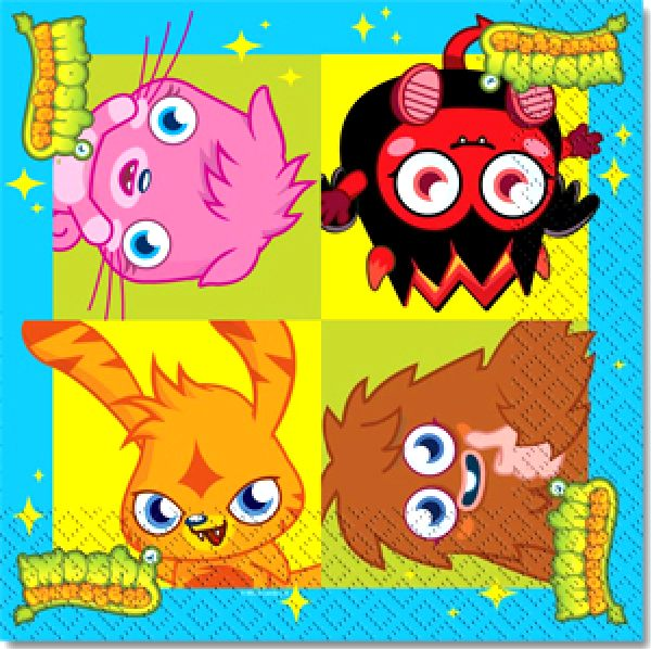 moshi monsters party paper luncheon napkins novelties