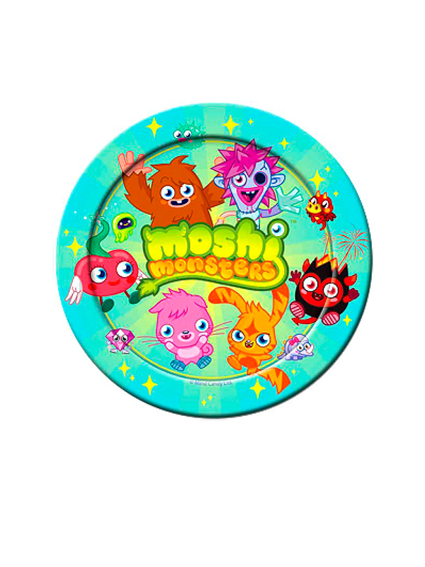 Moshi Monsters Party Paper Plates 23cm