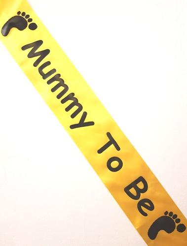 Mummy to be Sash - Yellow