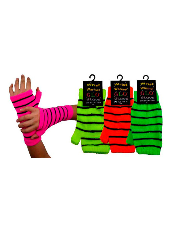 Neon Wrist Warmer Gloves