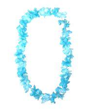 Hawaiian Silky Flower Lei -Punch  Blue