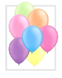 """Balloons 10"""" Bright Neon Assorted Colours"""