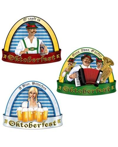 Traditional Oktoberfest Cutout - Pack of 3