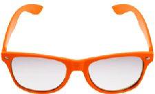 Orange Neon Clear Lense Wayfarer Glasses