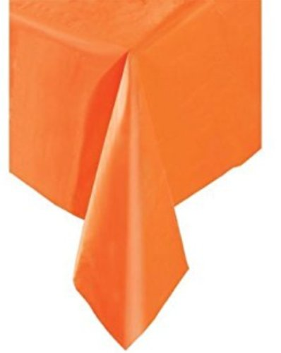 Orange Plastic Tablecloth