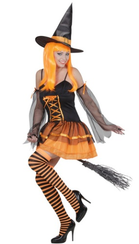 Orange Witch Costume 1234