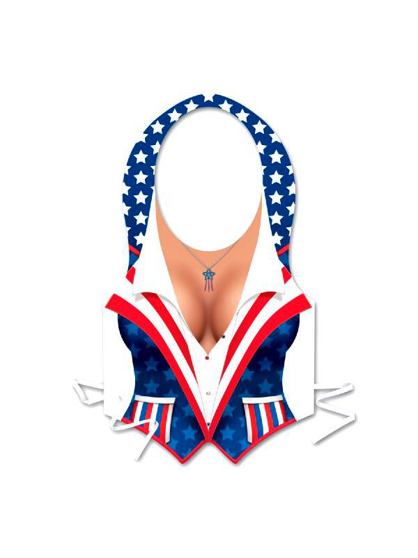 Plastic Female USA Patriotic Vest