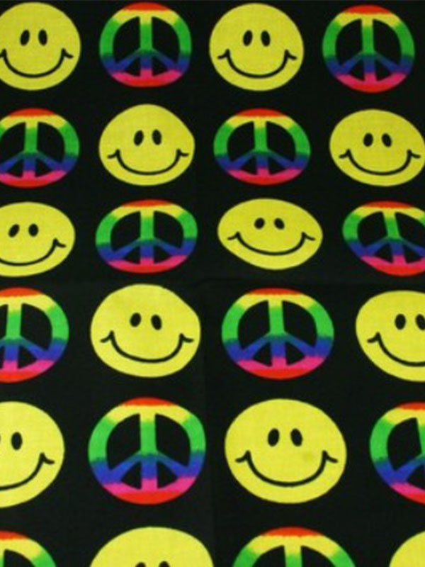 Smiley Face & Peace Bandana