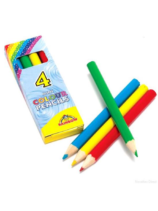 Pencil Col Half Size 4 PCS In Box